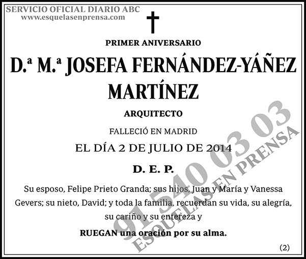 M.ª Josefa Fernández-Yánez Martínez
